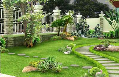Thi công khuôn viên sân vườn